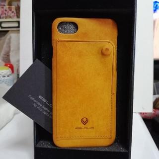 iPhone7/8/新型SE 背面ケース レザー 本皮(iPhoneケース)