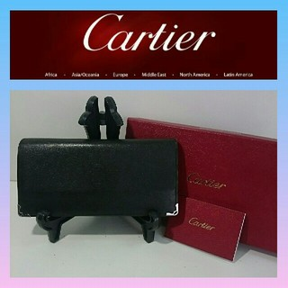 Cartier - カルティエ 長財布 二つ折り長財布 マストライン 黒色