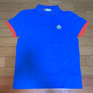 MONCLER - M サイズ モンクレール ポロシャツ ブルー MONCLER