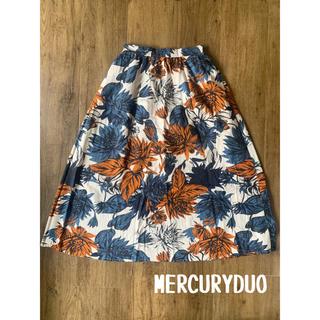 MERCURYDUO - MERCURYDUO マーキュリーデュオ 花柄ロングスカート