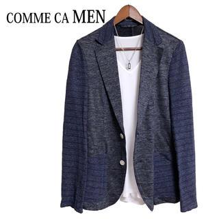 コムサメン(COMME CA MEN)のCOMME CA MEN テーラードジャケット サマージャケット 青 紺色(テーラードジャケット)