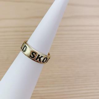 ステューシー(STUSSY)のSTUSSY OLD SKOOL リング ゴールド(リング(指輪))