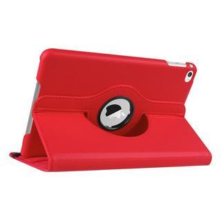 iPad mini5/mini4 共用 レッド 360度回転機能付 ケース(iPadケース)