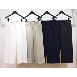 Theory luxe -  theory luxe  18SS ワイドクロップドパンツ ベージュ 38