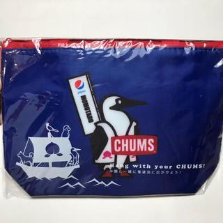 チャムス(CHUMS)のpepsi × CHUMS オリジナル保冷バッグ 青(弁当用品)