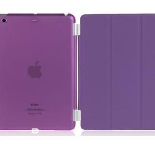iPad mini2/3 スマートケース 分離型 【パープル】 スタンド仕様(その他)