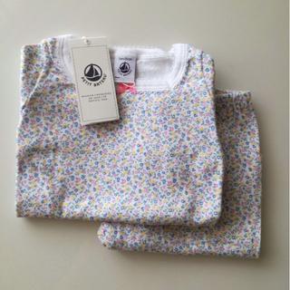 プチバトー(PETIT BATEAU)の新品 プチバトー 半袖パジャマ フラワープリント 2ans(パジャマ)