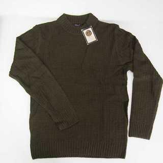 【新品】Beno ハイネック セーター カーキー M (T37)(ニット/セーター)