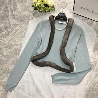 クリスチャンディオール(Christian Dior)の美品 ディオール Christian Dior ミンク カシミヤ カーディガン(カーディガン)