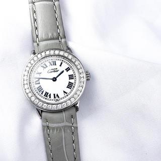Cartier - 【仕上済】カルティエ ロンド SM シルバー ダイヤ レディース 腕時計
