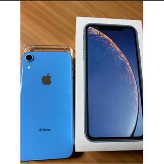 アイフォーン(iPhone)のiphone xr 256gb ブルー simフリー(スマートフォン本体)