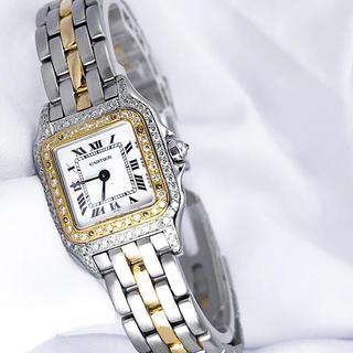 Cartier - 【仕上済】カルティエ  パンテール ダイヤ 1ロウ レディース 腕時計