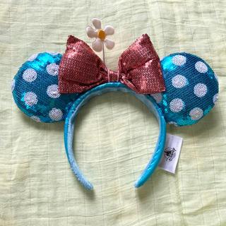 ディズニー(Disney)の海外パークカチューシャ ミニーちゃんディズニー水玉カチューシャ(カチューシャ)