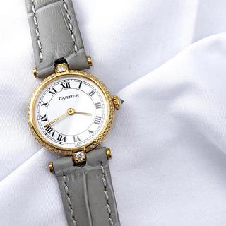 Cartier - 【仕上済】カルティエ ヴァンドーム SM ゴールド ダイヤ レディース 腕時計