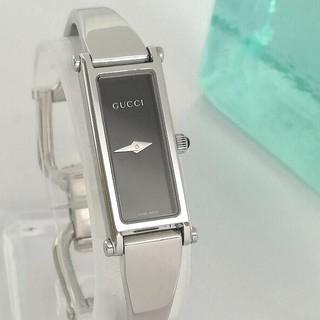 Gucci - 綺麗 グッチ 新品仕上げ 黒 バングルS レディースウォッチ 時計 着物 極美品
