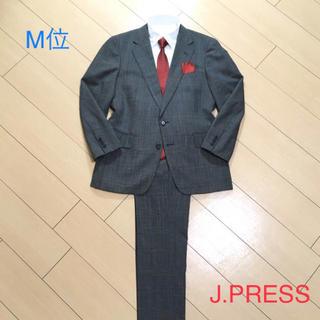 ジェイプレス(J.PRESS)の極美品★ジェイプレス×上質サマーウールグリーン系グレンチェックスーツA628(セットアップ)