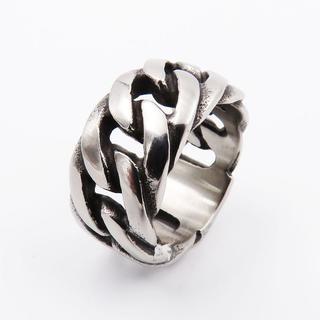 指輪 メンズ リング 喜平 チェーン 幅11mm サージカルステンレス メンズ