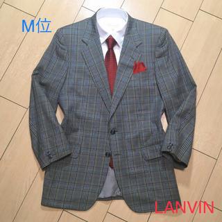 LANVIN - 美品★ランバン×イタリア製カーキグリーン系チェックジャケット上質コットンA364