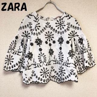 ZARA - 【人気】ザラ トラファルクコレクション 刺繍カットソー USサイズXS