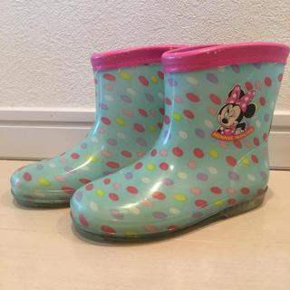 ディズニー(Disney)の長靴 長ぐつ レインブーツ ディズニー ミニーマウス 16 16(長靴/レインシューズ)