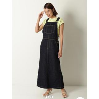 Mila Owen - MilaOwen♡リネン混デニムジャンパースカート