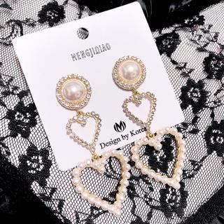 クリスタルドロップ♡ピアス♡アクセサリー♡韓国ファッション♡A25 ホワイト(ピアス)