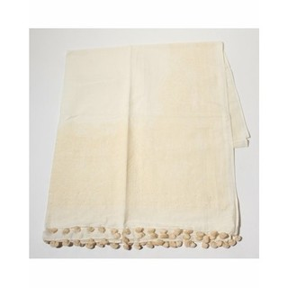イエナ(IENA)のヌキテパ ペイズリー ストール スカーフ 刺繍 ポンポン マフラー 大判 羽織(ストール/パシュミナ)