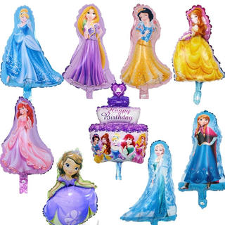 ディズニー(Disney)の☆ プリンセスバルーン☆ミニプリンセス☆バルーン☆風船☆9ピースセット(アルバム)