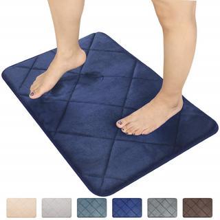 ■ バスマット 厚み2cm 低反発  吸水 速乾 丸洗いOK ■(バスマット)