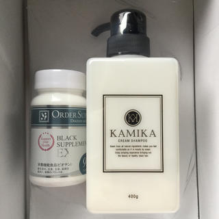 カミカ 黒髪クリーム シャンプー KAMIKA ブラックサプリメントEX 90粒