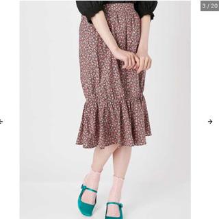 メリージェニー(merry jenny)のメリージェニー    フラワーマーメイドスカート(ひざ丈スカート)