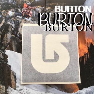 バートン(BURTON)のBURTON バートンUS限定ICON型抜きダイカットステッカーblack(アクセサリー)