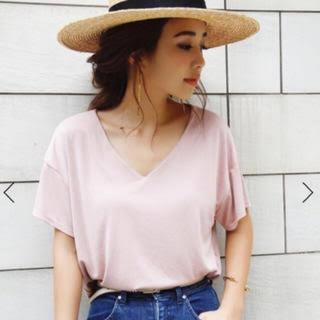 エイミーイストワール(eimy istoire)のeimy istoire♡VネックTシャツ(Tシャツ(半袖/袖なし))