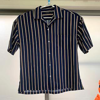 RAGEBLUE - ストライプオープンカラーシャツ