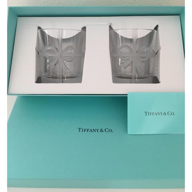 Tiffany & Co.(ティファニー)のティファニー  ボウグラス ペア 箱入り 新品 インテリア/住まい/日用品のキッチン/食器(グラス/カップ)の商品写真