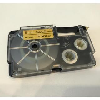 カシオ(CASIO)のCASIO ネームランド テープ GOLD✖️BLACK INK(テープ/マスキングテープ)
