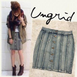 アングリッド(Ungrid)のUngrid♡フロントボタンデニムタイトスカート(ミニスカート)