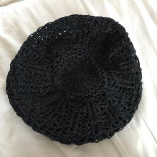 透かし編みハンチング