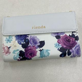 リエンダ(rienda)のrienda iPhone7 iPhone8/SE第2世代用 財布付手帳ケース(iPhoneケース)