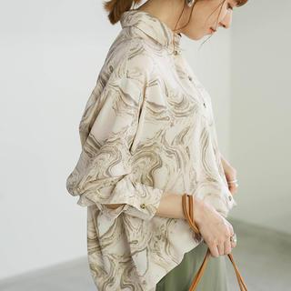 TODAYFUL - select MOCA マーブルシアーシャツ