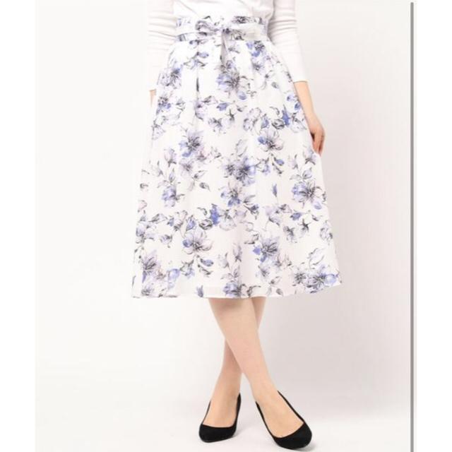 Debut de Fiore(デビュードフィオレ)のレッセパッセスカート レディースのスカート(ひざ丈スカート)の商品写真