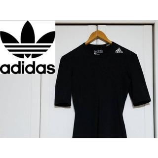adidas - adidas コンプレッションウェア テックフィット ショートスリープシャツ