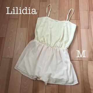 リリディア(Lilidia)のLilidia レース シフォン  サロペット (サロペット/オーバーオール)