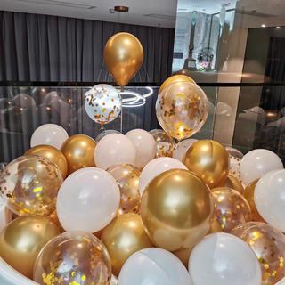つやつや輝く 飾り 結婚式 ウェディング 装飾 風船 バルーン 15点セット(ウェルカムボード)