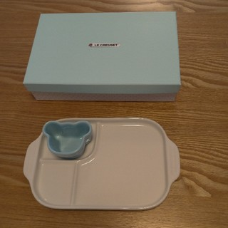 ルクルーゼ(LE CREUSET)のル・クルーゼ ラムカンマルチプレートセット(離乳食器セット)
