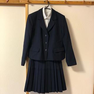 公立高校制服 ブレザー プリーツスカート 上下紺
