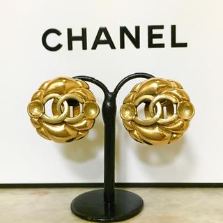 CHANEL - 正規品 シャネル イヤリング ゴールド ココマーク 金 ロゴ 丸 ヴィンテージ