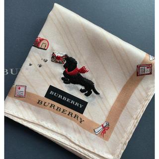 BURBERRY - バーバリーハンカチ 犬 新品
