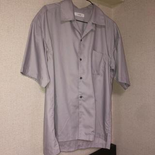 ハレ(HARE)のオープンカラーシャツ lidnm パープル グレー(シャツ)