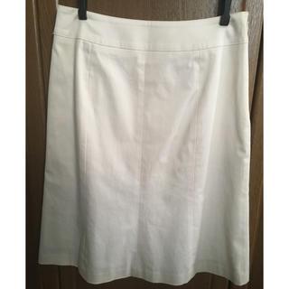 エフデ(ef-de)のef-de ホワイト スカート 未着用 セットアップ可 エフデ(ひざ丈スカート)